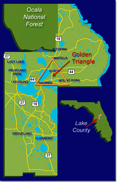 Map Of Lake County Florida - Fl county map with cities