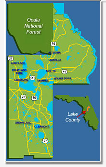 Click to view a map of Lake County Florida